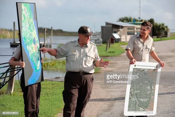 Rolf Olson US Fish Wildlife Service officer speaks before an airboat tour with a Soul River youth group at the Arthur R Marshall Loxahatchee National...