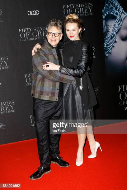 Rolf Scheider and german actress Anna Hofbauer attend the European premiere of 'Fifty Shades Darker' at Cinemaxx on February 7 2017 in Hamburg Germany