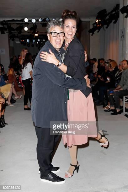 Rolf Scheider and Katrin Wrobel attend the Rebekka Ruetz show during the MercedesBenz Fashion Week Berlin Spring/Summer 2018 at Kaufhaus Jandorf on...