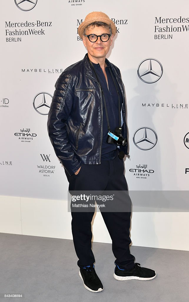 <a gi-track='captionPersonalityLinkClicked' href=/galleries/search?phrase=Rolf+Scheider&family=editorial&specificpeople=5378029 ng-click='$event.stopPropagation()'>Rolf Scheider</a> attends the Thomas Hanisch show during the Mercedes-Benz Fashion Week Berlin Spring/Summer 2017 at Erika Hess Eisstadion on June 28, 2016 in Berlin, Germany.