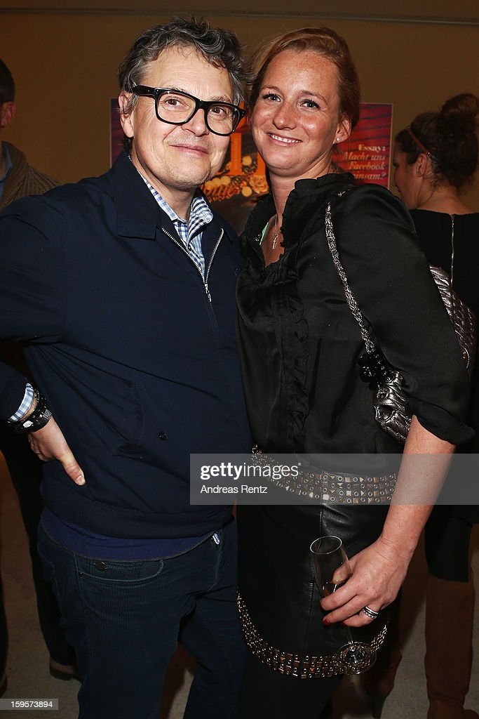 Rolfe Scheider and Jenny Falckenberg attend Flair Magazine Party at Pariser Platz 4 on January 15, 2013 in Berlin, Germany.