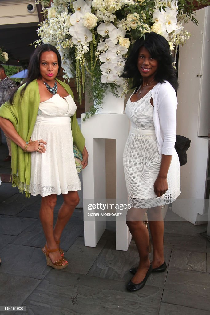 Rolise Rachel and Michelle Travis attend the B Floral Cocktail Hour at the Southampton Social Club on August 17, 2017 in Southampton, New York.