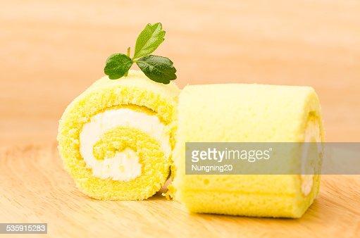 Roll cake : Stock Photo