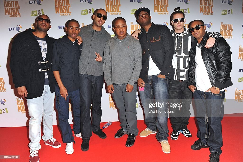 Roll Deep attends the 'BT Digital Music Awards' at The Roundhouse on September 30 2010 in London England