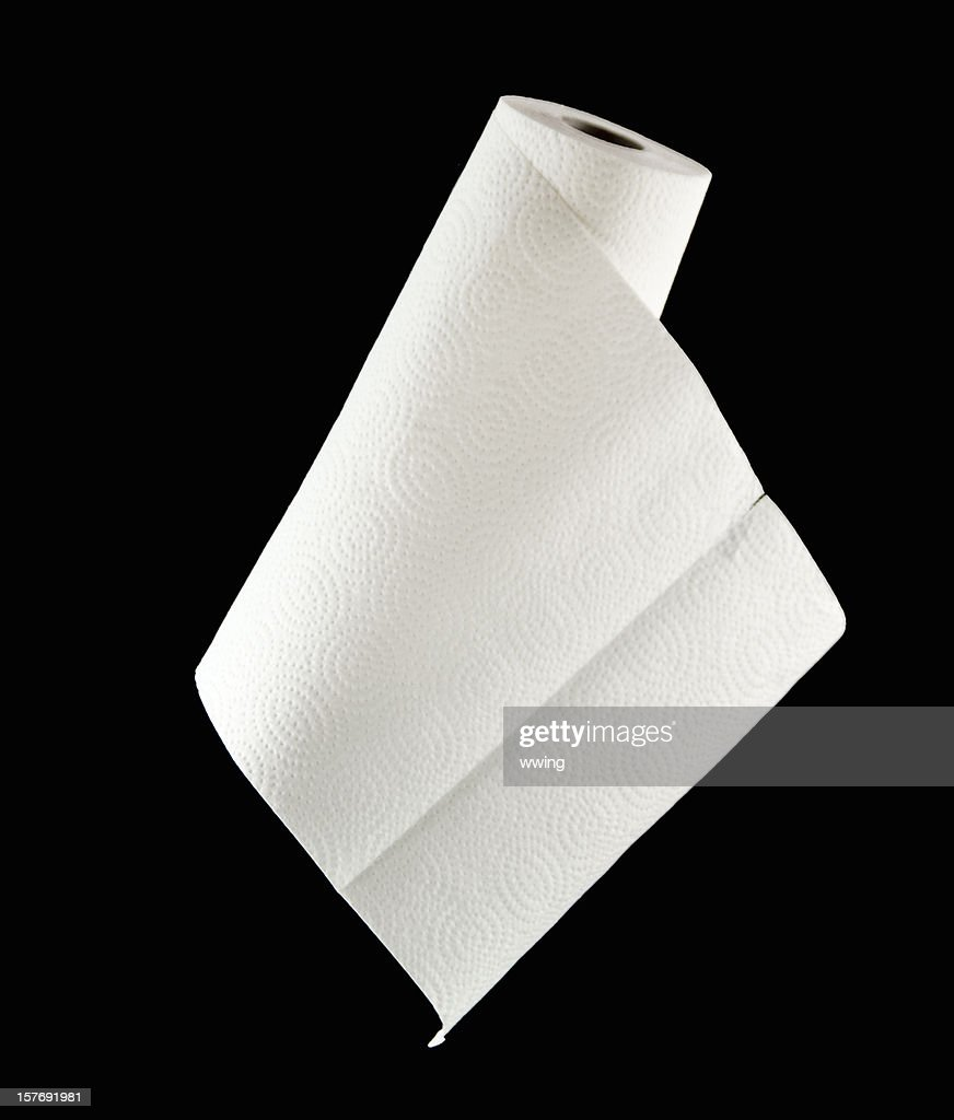 Roll Of Paper Towels On Black Stock Photo Getty Images