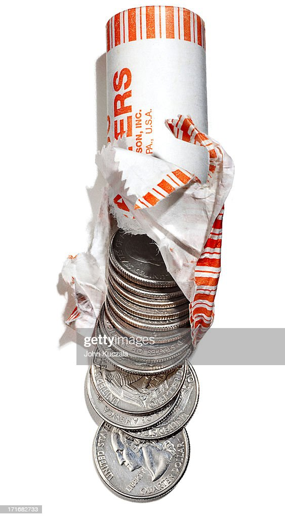 Roll of Quarters : Stock Photo