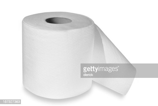 roll of toilet paper with clipping path