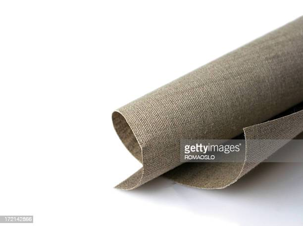 Roll of unprimed linen canvas