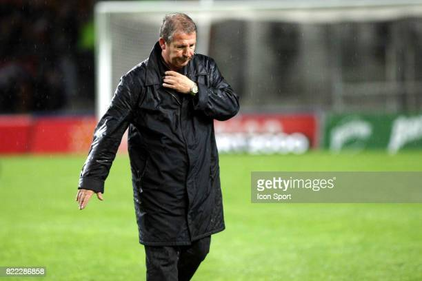 Rolland COURBIS a la fin du match Montpellier / Lens 32eme journee de Ligue 2 Stade de la Mosson Montpellier /