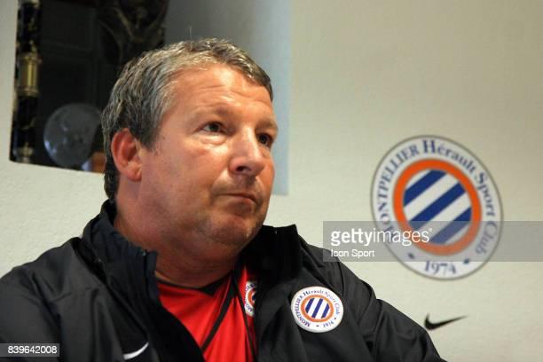 Rolland COURBIS Nouvel entraineur de Montpellier pour les quatre derniers matchs de la saison Conference de presse Montpellier
