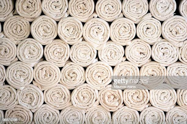 Rolled Beach towels texture