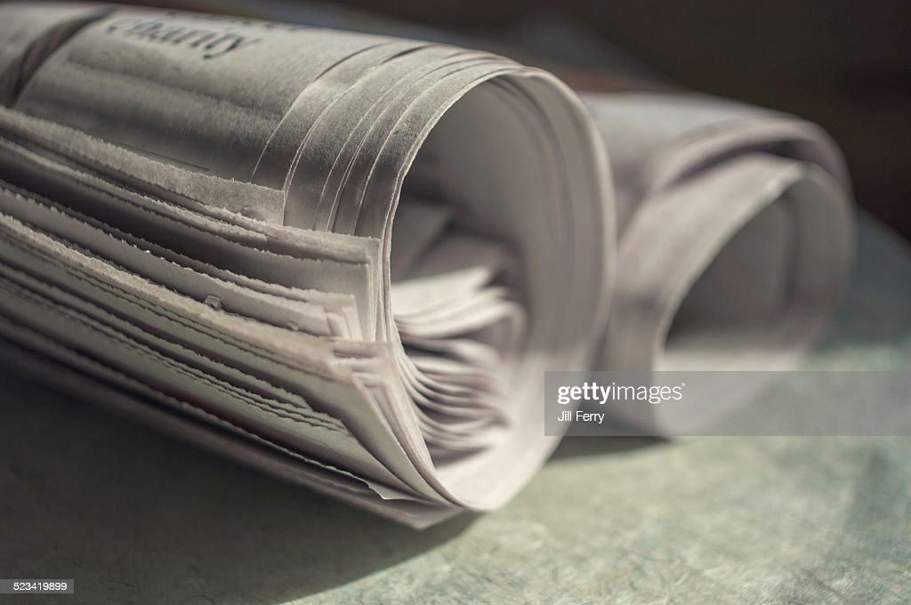 Rolled newspapers : Stock Photo