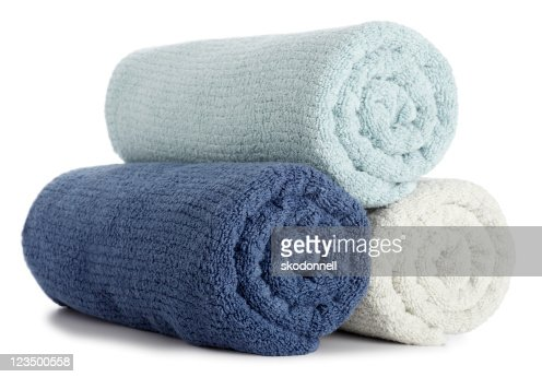Rolled up Bath Towels