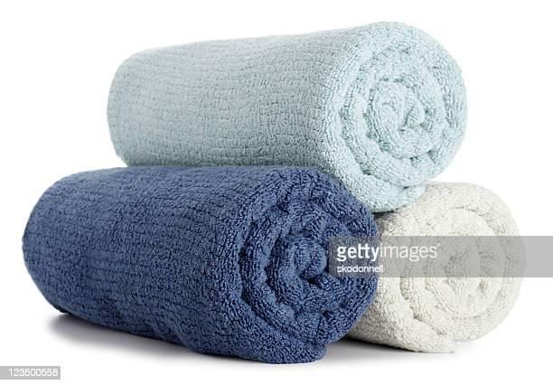 Aufgerollte Handtücher