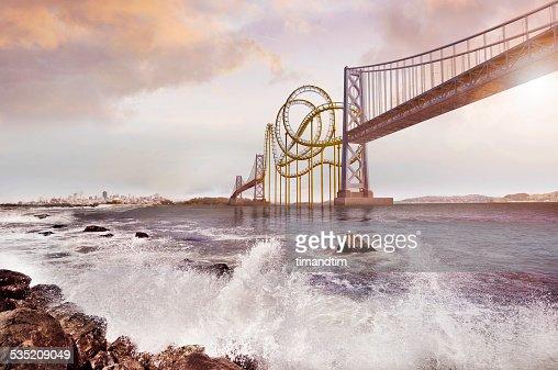 Roller coaster bridge