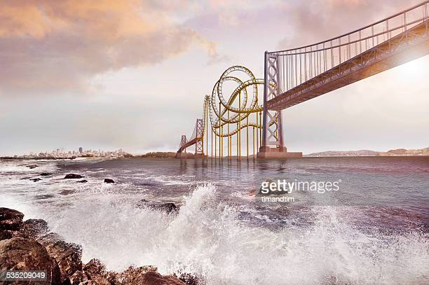 Roller coaster bridge