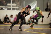 Roller Derby bout action