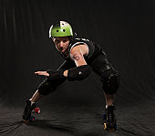 Roller derby portrait of woman