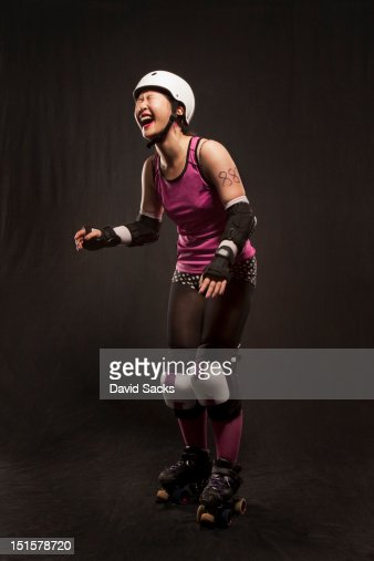 Roller derby portrait : Stock Photo