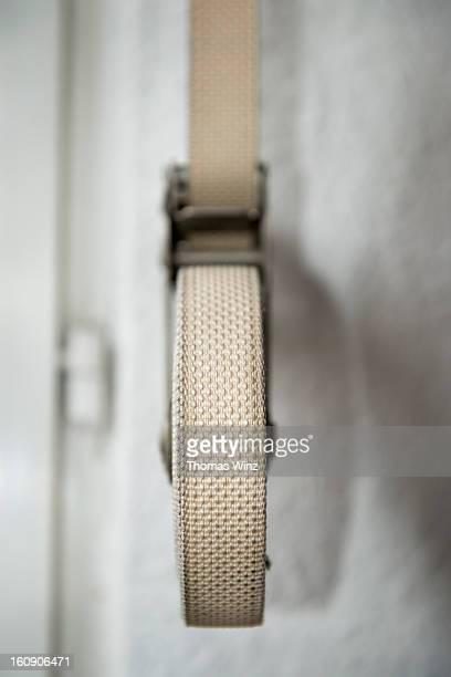 Roller shutter winder strap
