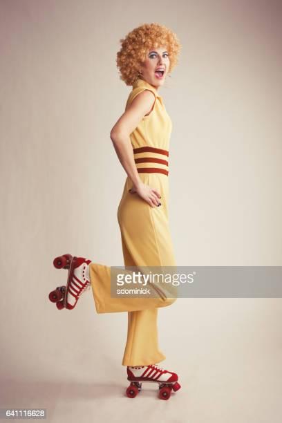 Roller Skating 70's Woman