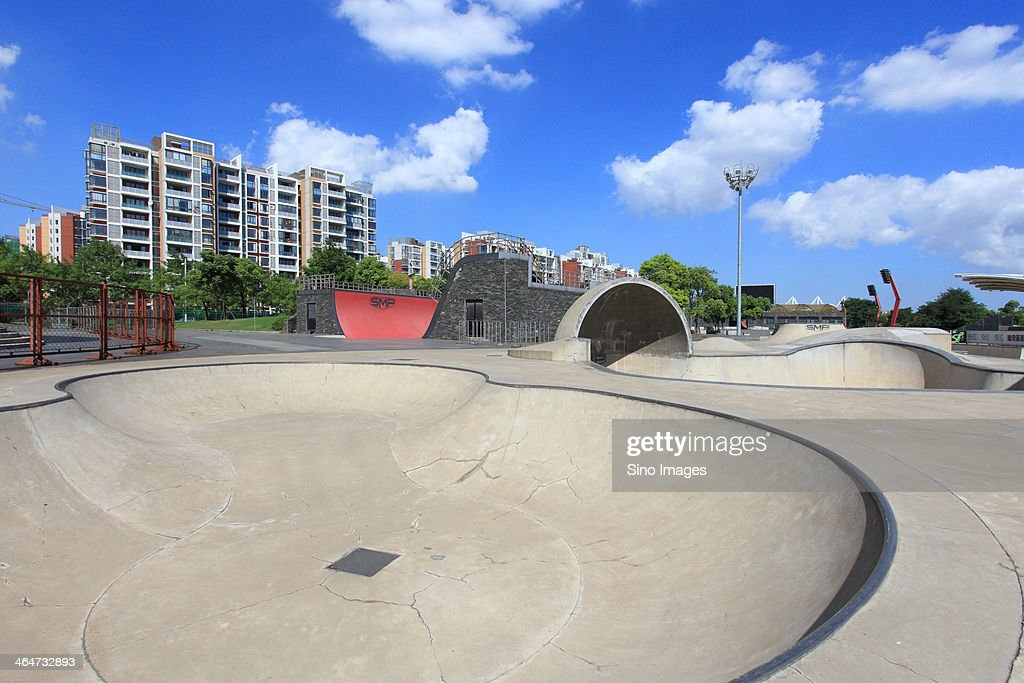 Roller skating and bicycle athletic field in Shanghai