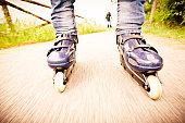 Rollerblades-inline skates in Action