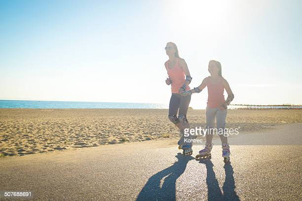 Rollerblading at the beach