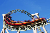 rollercoaster in motion blur