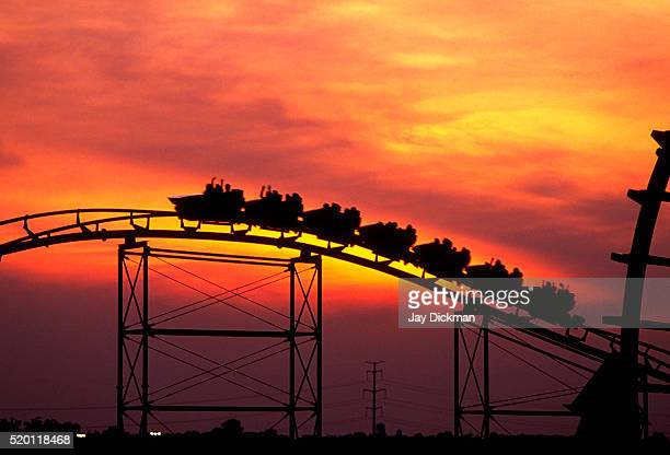 Rollercoaster at Sunset