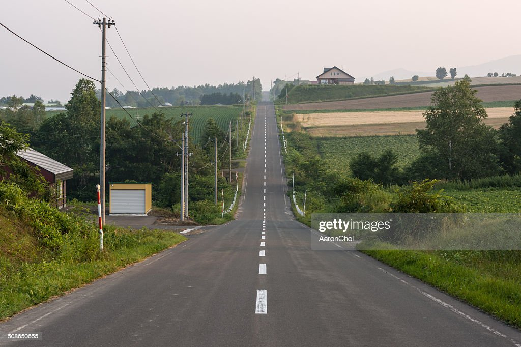 Rollercoaster road : Stock Photo