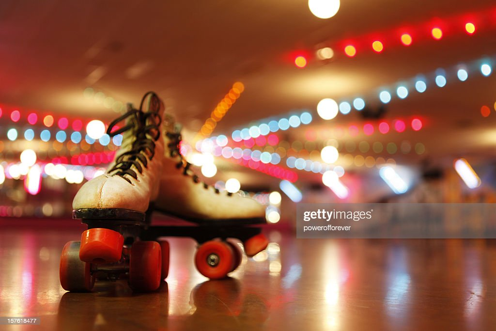 Rollerskates in the Roller Disco : Stock Photo
