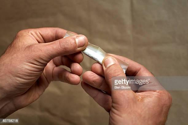 Rolling a Marijuana Cigarette