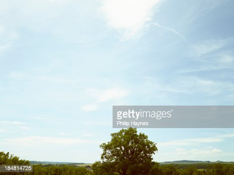 rolling blue sky 1 : Stock Photo