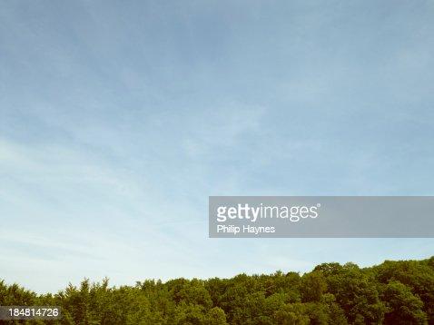 rolling blue sky 2 : Stock Photo