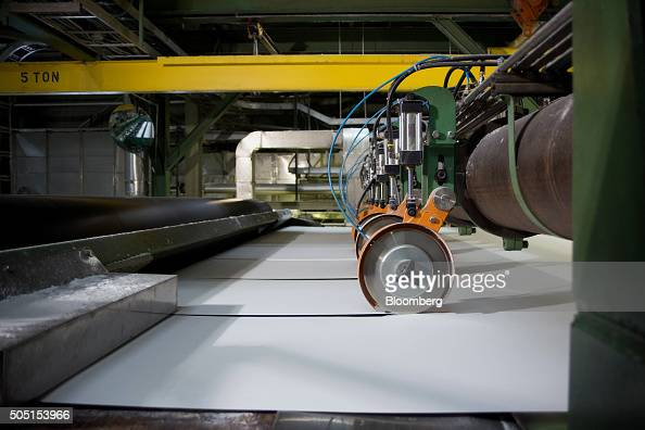 Rolling knives cut high quality paper at the Resolute Forest Products mill in Thunder Bay Canada Ontario on Thursday Jan 7 2016 Resolute Forest...