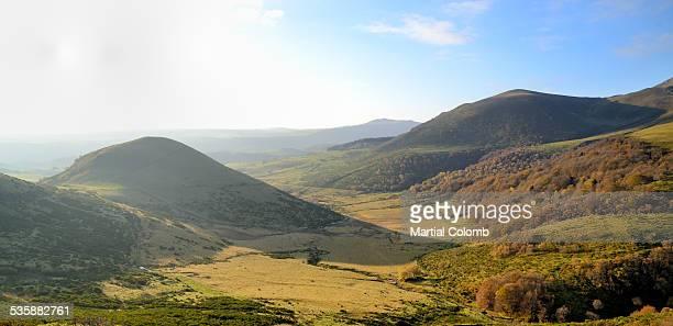 Rolling landscape in Auveregne region