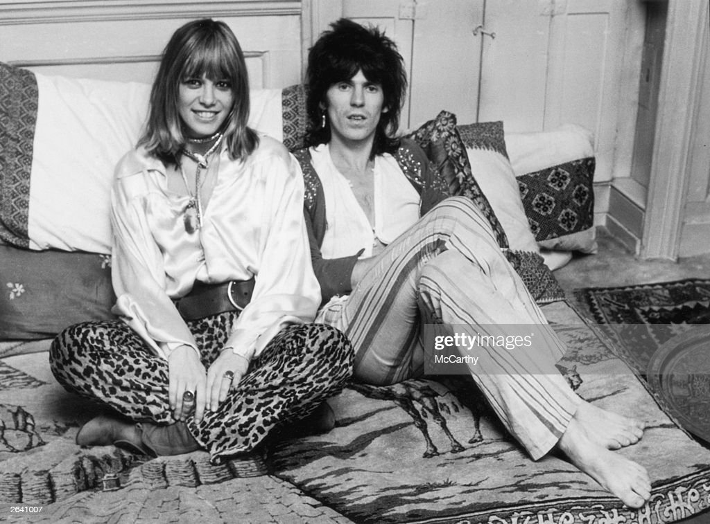 Rolling Stone <a gi-track='captionPersonalityLinkClicked' href=/galleries/search?phrase=Keith+Richards+-+Musician&family=editorial&specificpeople=202882 ng-click='$event.stopPropagation()'>Keith Richards</a> and his girlfriend Anita Pallenberg, 9th December 1969.