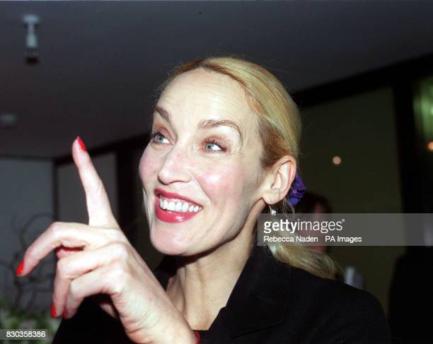 Rolling Stone Mick Jagger's exwife Jerry Hall at Dartford Grammar school in Kent where the rock veteran opened 'The Mick Jagger Centre' a new...