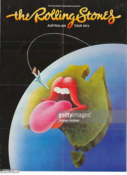 Rolling Stones Australian Tour Poster from 1973 This poster will form part of The Rolling Stones 'Exhibitionism' at Londons Saatchi Gallery Mick...