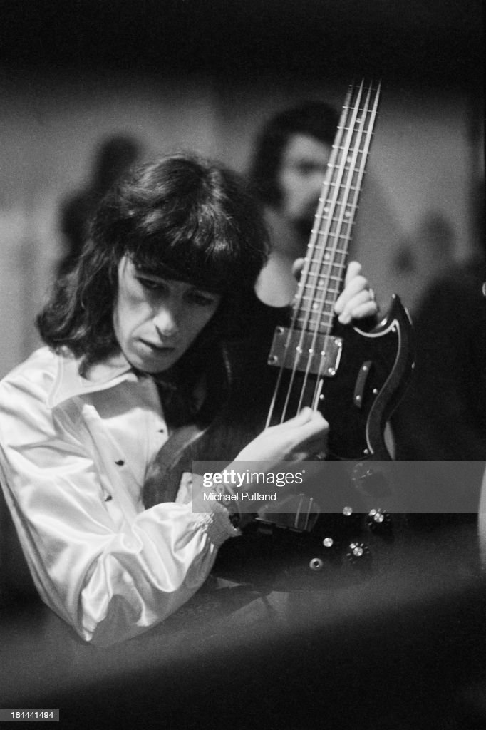 Rolling Stones bassist Bill Wyman at a concert at the Festhalle Frankfurt Germany 30th September 1973