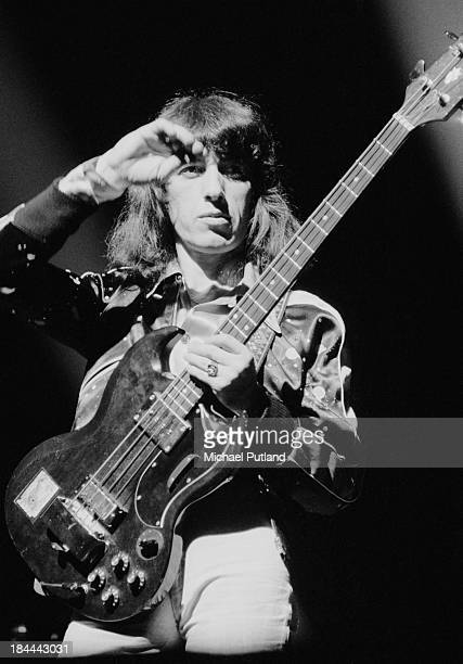 Rolling Stones bassist Bill Wyman at a concert at the Sportpaleis AHOY Rotterdam Netherlands 13th14th October 1973 The group played three shows at...