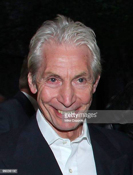 Rolling Stones drummer Charlie Watts attends the rerelease of The Rolling Stones' 'Exile on Main St' album at The Museum of Modern Art on May 11 2010...