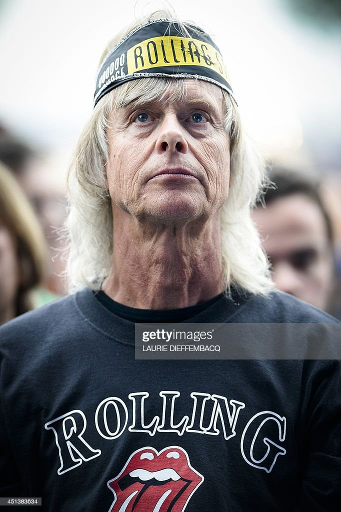 A Rolling Stones fan attends the TW Classic music festival in Werchter, on June 28, 2014.