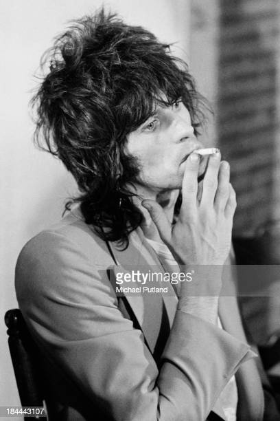 Rolling Stones guitarist Keith Richards at a press conference at the Sportpaleis AHOY Rotterdam Netherlands 13th14th October 1973 The group played...