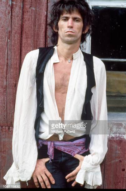 Rolling Stones guitarist Keith Richards at his home in South Salem New York in 1978