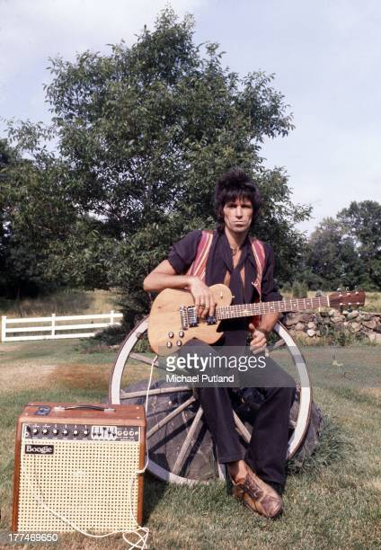 Rolling Stones guitarist Keith Richards at his home in South Salem New York 1978