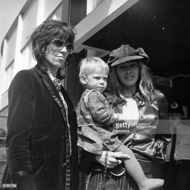 Rolling Stones guitarist Keith Richards with girfriend Anita Pallenberg and their son Marlon