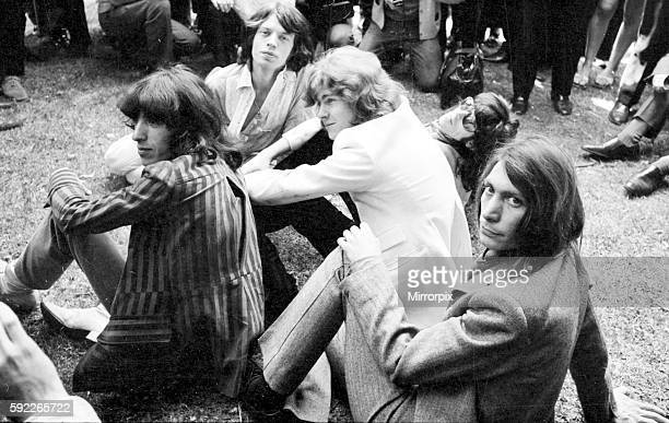 Introducing the Mick Taylor who took Brian Jones place in the band to press at a photocall in Hyde Park 13 June 1969