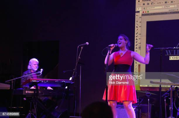 Rolling Stones pianist and musical director Chuck Leavell and Mikayla Bouchard rehearse onstage before the White House Correspondents' Jam at The...